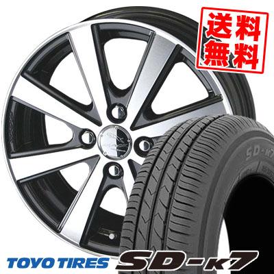 155/70R13 75S TOYO TIRES トーヨー タイヤ SD-K7 エスディーケ-セブン SMACK VIR スマック VI-R サマータイヤホイール4本セット