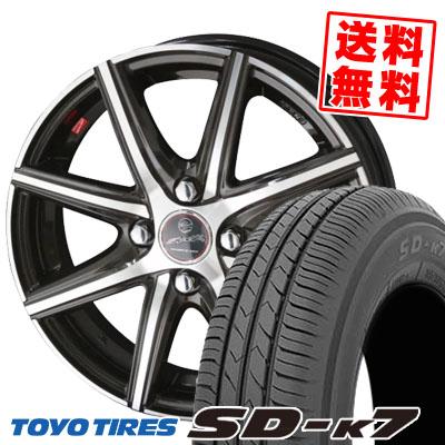 155/70R13 75S TOYO TIRES トーヨー タイヤ SD-K7 エスディーケ-セブン SMACK PRIME SERIES VANISH スマック プライムシリーズ ヴァニッシュ サマータイヤホイール4本セット