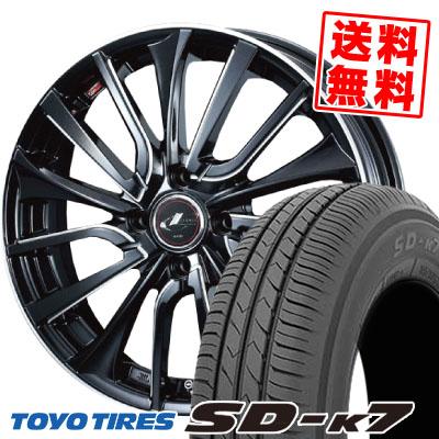 165/55R15 75V TOYO TIRES トーヨー タイヤ SD-K7 エスディーケ-セブン weds LEONIS VT ウエッズ レオニス VT サマータイヤホイール4本セット
