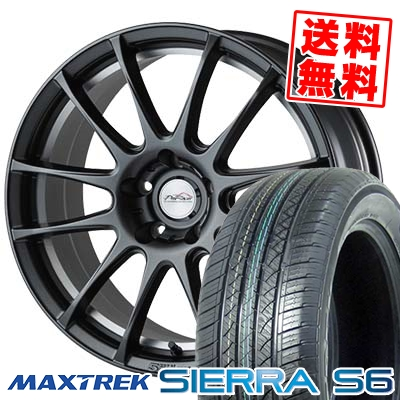 225/65R17 102S MAXTREK マックストレック SIERRA S6 シエラ エスロク 5ZIGEN PRORACER Z1 5ジゲン プロレーサー Z1 サマータイヤホイール4本セット