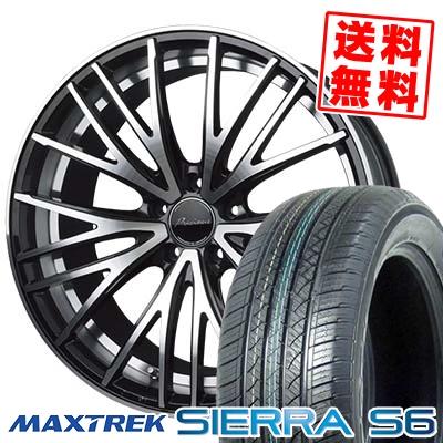 235/50R18 101V XL MAXTREK マックストレック SIERRA S6 シエラ エスロク Precious AST M1 プレシャス アスト M1 サマータイヤホイール4本セット