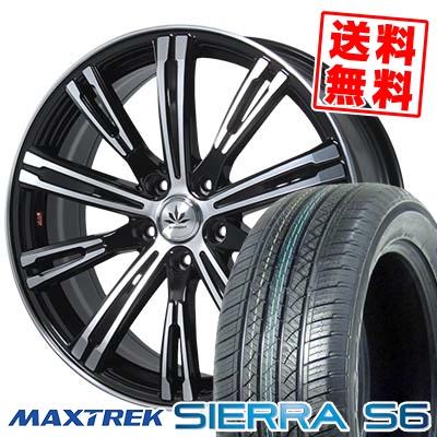235/50R18 101V XL MAXTREK マックストレック SIERRA S6 シエラ エスロク Bahnsport TYPE 525 バーンシュポルト タイプ525 サマータイヤホイール4本セット