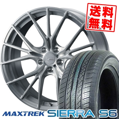235/50R18 101V XL MAXTREK マックストレック SIERRA S6 シエラ エスロク WEDS F ZERO FZ-1 ウェッズ エフゼロ FZ-1 サマータイヤホイール4本セット