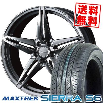 235/50R18 101V XL MAXTREK マックストレック SIERRA S6 シエラ エスロク WEDS F ZERO FZ-3 ウェッズ エフゼロ FZ-3 サマータイヤホイール4本セット
