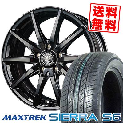 225/65R17 102S MAXTREK マックストレック SIERRA S6 シエラ エスロク TRG-GB10 TRG GB10 サマータイヤホイール4本セット