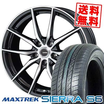 235/50R18 101V XL MAXTREK マックストレック SIERRA S6 シエラ エスロク G.Speed P-02 Gスピード P-02 サマータイヤホイール4本セット【取付対象】