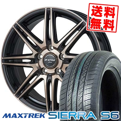 235/60R18 103H MAXTREK マックストレック SIERRA S6 シエラ エスロク JP STYLE JERIVA JPスタイル ジェリバ サマータイヤホイール4本セット