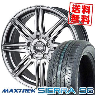 235/50R18 101V XL MAXTREK マックストレック SIERRA S6 シエラ エスロク ZACK JP-818 ザック ジェイピー818 サマータイヤホイール4本セット
