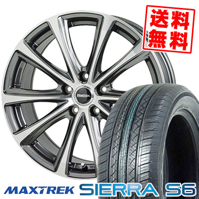 235/60R18 103H MAXTREK マックストレック SIERRA S6 シエラ エスロク Laffite LE-04 ラフィット LE-04 サマータイヤホイール4本セット