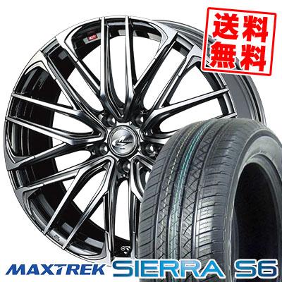 225/65R17 102S MAXTREK マックストレック SIERRA S6 シエラ エスロク WEDS LEONIS SK ウェッズ レオニスSK サマータイヤホイール4本セット