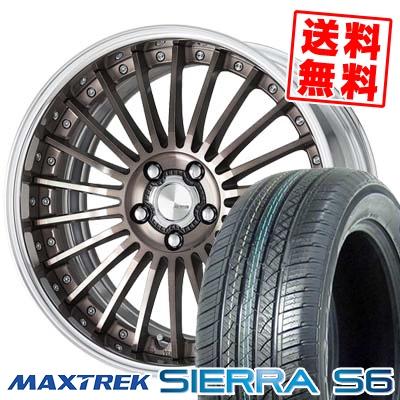 225/55R18 98V MAXTREK マックストレック SIERRA S6 シエラ エスロク WORK LANVEC LF1 ワーク ランベック エルエフワン サマータイヤホイール4本セット