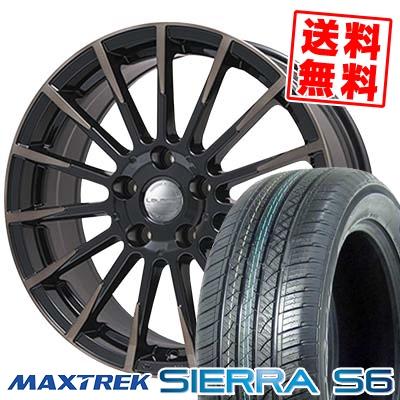 225/65R17 102S MAXTREK マックストレック SIERRA S6 シエラ エスロク Leyseen F-XV レイシーン FX-V サマータイヤホイール4本セット