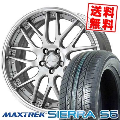 235/60R18 103H MAXTREK マックストレック SIERRA S6 シエラ エスロク WORK LANVEC LM1 ワーク ランベック エルエムワン サマータイヤホイール4本セット