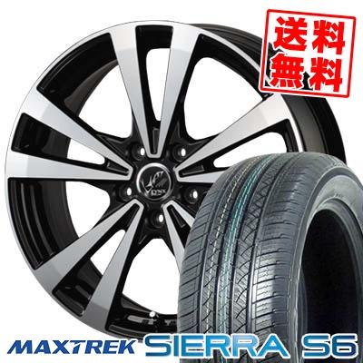 225/65R17 102S MAXTREK マックストレック SIERRA S6 シエラ エスロク PRAUZER LYNX プラウザー リンクス サマータイヤホイール4本セット