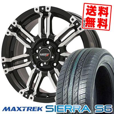 225/65R17 102S MAXTREK マックストレック SIERRA S6 シエラ エスロク B-MUD X Bマッド エックス サマータイヤホイール4本セット