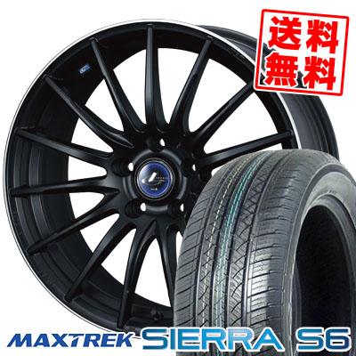225/65R17 102S MAXTREK マックストレック SIERRA S6 シエラ エスロク weds LEONIS NAVIA 05 ウエッズ レオニス ナヴィア 05 サマータイヤホイール4本セット