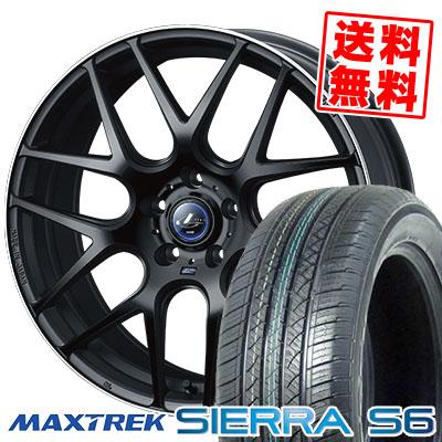 235/50R18 101V XL MAXTREK マックストレック SIERRA S6 シエラ エスロク WEDS LEONIS NAVIA06 ウェッズ レオニス ナヴィア06 サマータイヤホイール4本セット