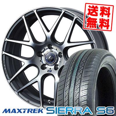 225/55R18 98V MAXTREK マックストレック SIERRA S6 シエラ エスロク WEDS LEONIS NAVIA06 ウェッズ レオニス ナヴィア06 サマータイヤホイール4本セット