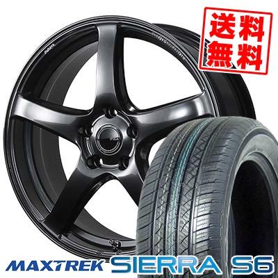 225/55R18 98V MAXTREK マックストレック SIERRA S6 シエラ エスロク PIAA Eleganza S-01 PIAA エレガンツァ S-01 サマータイヤホイール4本セット