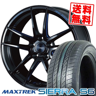 235/60R18 103H MAXTREK マックストレック SIERRA S6 シエラ エスロク WedsSport RN-55M ウェッズスポーツ RN-55M サマータイヤホイール4本セット