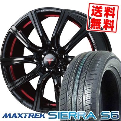225/65R17 102S MAXTREK マックストレック SIERRA S6 シエラ エスロク WEDS NOVARIS ROHGUE CB ウェッズ ノヴァリス ローグ CB サマータイヤホイール4本セット