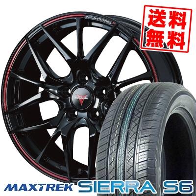 225/65R17 102S MAXTREK マックストレック SIERRA S6 シエラ エスロク WEDS NOVARIS ROHGUE SH ウェッズ ノヴァリス ローグ SH サマータイヤホイール4本セット