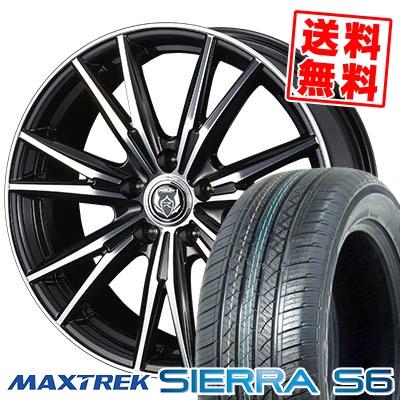 235/50R18 101V XL MAXTREK マックストレック SIERRA S6 シエラ エスロク WEDS RIZLEY DK ウェッズ ライツレーDK サマータイヤホイール4本セット