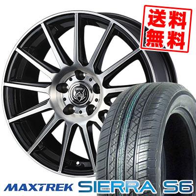 225/50R18 95V MAXTREK マックストレック SIERRA S6 シエラ エスロク WEDS RIZLEY KG ウェッズ ライツレーKG サマータイヤホイール4本セット