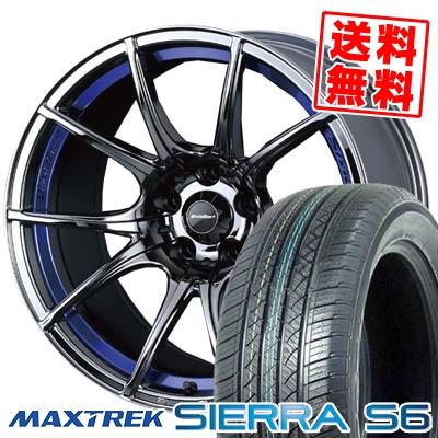235/60R18 103H MAXTREK マックストレック SIERRA S6 シエラ エスロク wedsSport SA-10R ウエッズスポーツ SA10R サマータイヤホイール4本セット