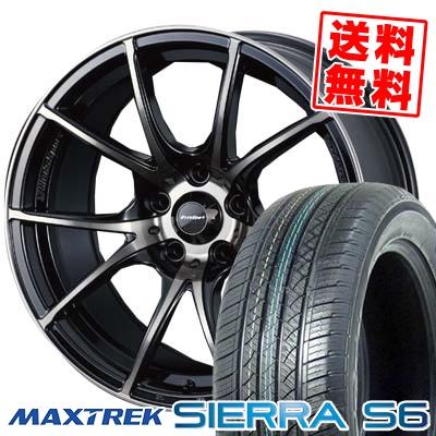 225 55R18 98V MAXTREK マックストレック SIERRA S6 シエラ エスロク wedsSport SA-10R ウエッズスポーツ SA10R サマータイヤホイール4本セット 返品OK 通販 夏祭り 法事