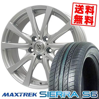 225/65R17 102S MAXTREK マックストレック SIERRA S6 シエラ エスロク TRG-SILBAHN TRG シルバーン サマータイヤホイール4本セット