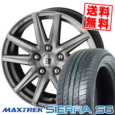 225/65R17 102S MAXTREK マックストレック SIERRA S6 シエラ エスロク SEIN SS ザイン エスエス サマータイヤホイール4本セット