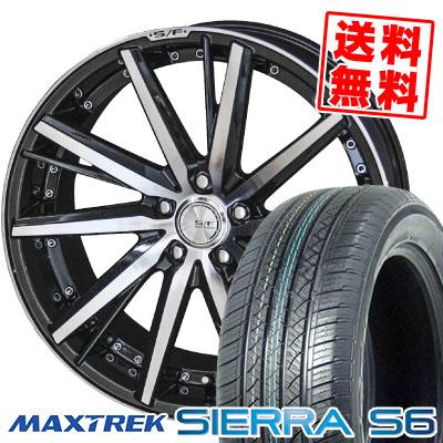 235/60R18 103H MAXTREK マックストレック SIERRA S6 シエラ エスロク STEINER FORCED SERIES SF-V シュタイナー フォースドシリーズ SF-V サマータイヤホイール4本セット