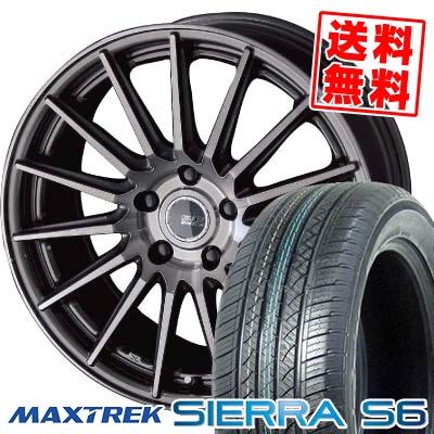 225/50R18 95V MAXTREK マックストレック SIERRA S6 シエラ エスロク STEINER FORCED SERIES SF-X シュタイナー フォースドシリーズ SF-X サマータイヤホイール4本セット