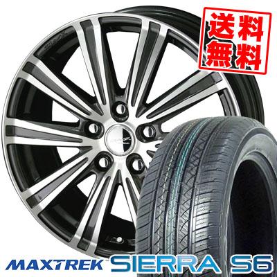 225/65R17 102S MAXTREK マックストレック SIERRA S6 シエラ エスロク SMACK SPARROW スマック スパロー サマータイヤホイール4本セット
