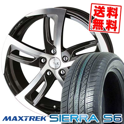 235/60R18 103H MAXTREK マックストレック SIERRA S6 シエラ エスロク STEINER SF-C シュタイナー SF-C サマータイヤホイール4本セット