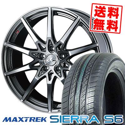 235/60R18 103H MAXTREK マックストレック SIERRA S6 シエラ エスロク weds LEONIS SV ウェッズ レオニス SV サマータイヤホイール4本セット