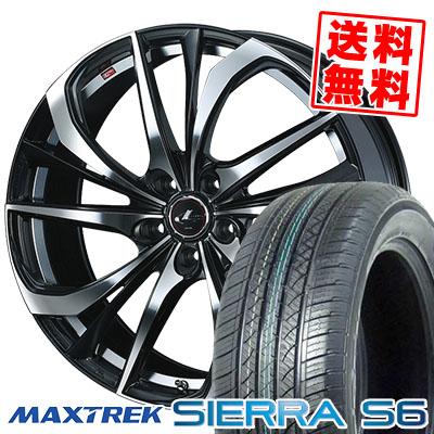 235/50R18 101V XL MAXTREK マックストレック SIERRA S6 シエラ エスロク weds LEONIS TE ウェッズ レオニス TE サマータイヤホイール4本セット