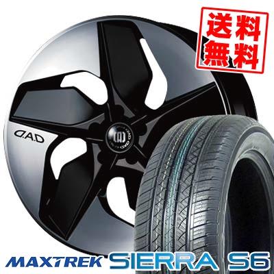 255/35R20 97W XL MAXTREK マックストレック SIERRA S6 シエラ エスロク GARSON D.A.D VORTESTAR ギャルソン D.A.D ボルテスター サマータイヤホイール4本セット