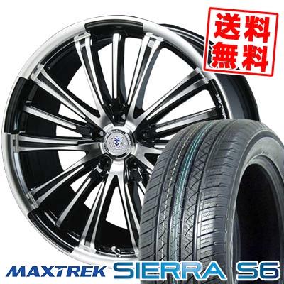 235/60R18 103H MAXTREK マックストレック SIERRA S6 シエラ エスロク BAHNS TECK VR-01 バーンズテック VR01 サマータイヤホイール4本セット【取付対象】
