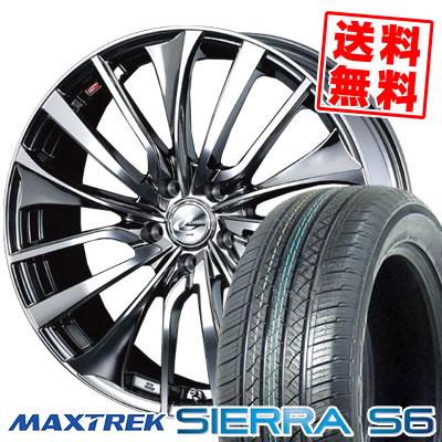 225/65R17 102S MAXTREK マックストレック SIERRA S6 シエラ エスロク weds LEONIS VT ウエッズ レオニス VT サマータイヤホイール4本セット