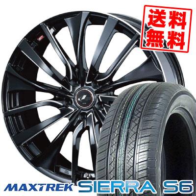235/50R18 101V XL MAXTREK マックストレック SIERRA S6 シエラ エスロク weds LEONIS VT ウエッズ レオニス VT サマータイヤホイール4本セット