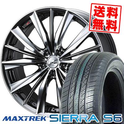 225/65R17 102S MAXTREK マックストレック SIERRA S6 シエラ エスロク weds LEONIS VX ウエッズ レオニス VX サマータイヤホイール4本セット