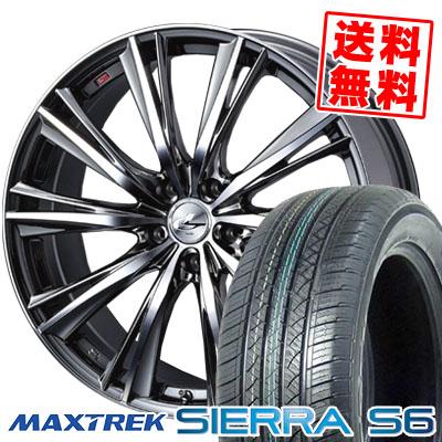 225/65R17 102S MAXTREK マックストレック SIERRA S6 シエラ エスロク weds LEONIS WX ウエッズ レオニス WX サマータイヤホイール4本セット