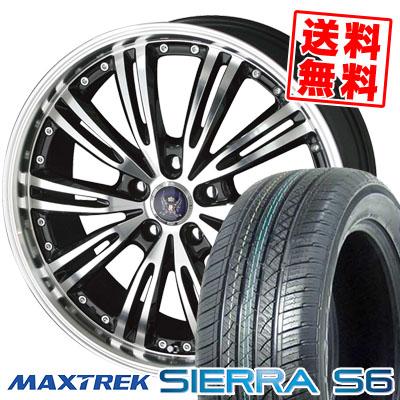 225/55R18 98V MAXTREK マックストレック SIERRA S6 シエラ エスロク STEINER WX5 シュタイナー WX5 サマータイヤホイール4本セット