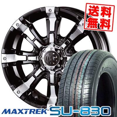 215/65R16C 109/107T MAXTREK マックストレック SU-830 エスユー ハチサンマル MG BEAST MG ビースト サマータイヤホイール4本セット for 200系ハイエース【取付対象】