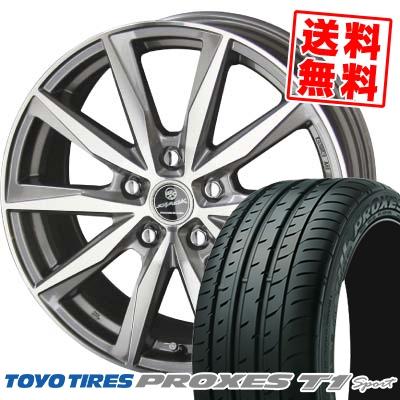 205/55R16 94W TOYO TIRES トーヨー タイヤ PROXES T1 sport プロクセス T1 スポーツ SMACK BASALT スマック バサルト サマータイヤホイール4本セット