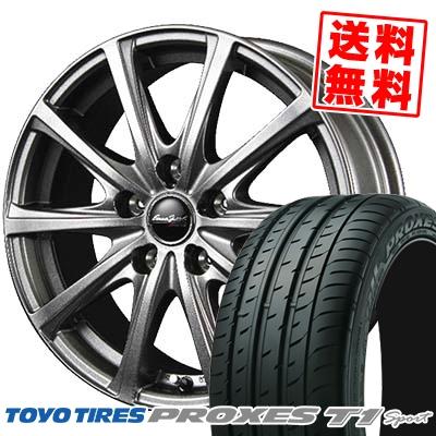 215/55R16 TOYO TIRES トーヨー タイヤ PROXES T1 sport プロクセス T1 スポーツ EuroSpeed V25 ユーロスピード V25 サマータイヤホイール4本セット