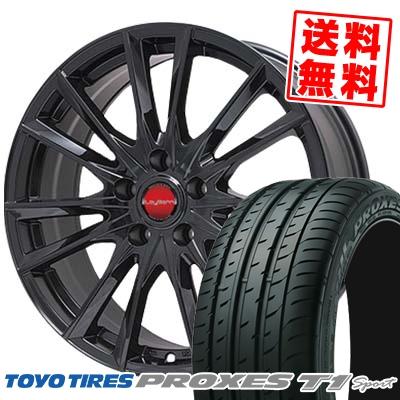 215/55R16 TOYO TIRES トーヨー タイヤ PROXES T1 sport プロクセス T1 スポーツ LeyBahn GBX レイバーン GBX サマータイヤホイール4本セット