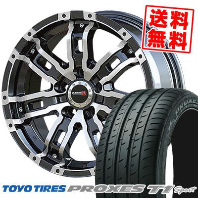 215/55R16 97Y TOYO TIRES トーヨー タイヤ PROXES T1 sport プロクセス T1スポーツ B-MUD Z Bマッド ゼット サマータイヤホイール4本セット